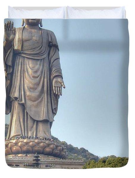 Giant Buddha Duvet Cover