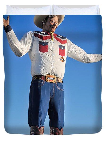 Giant Cowboy Big Tex State Fair Of Texas Duvet Cover