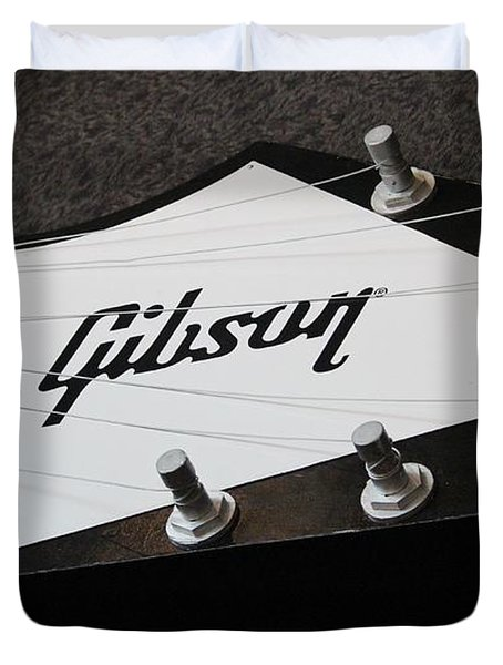 Giant Gibson Guitar Duvet Cover by Cynthia Snyder