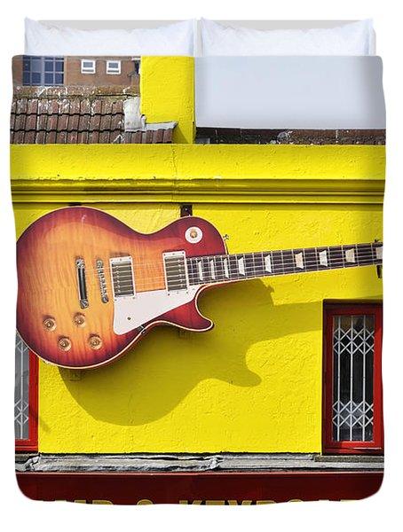 Giant Gibson Les Paul Duvet Cover
