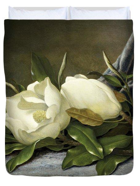 Giant Magnolias Duvet Cover