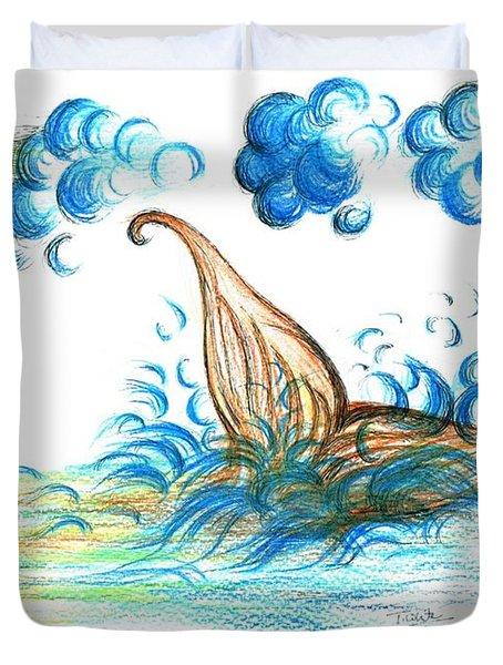 Giant Mermaid Duvet Cover