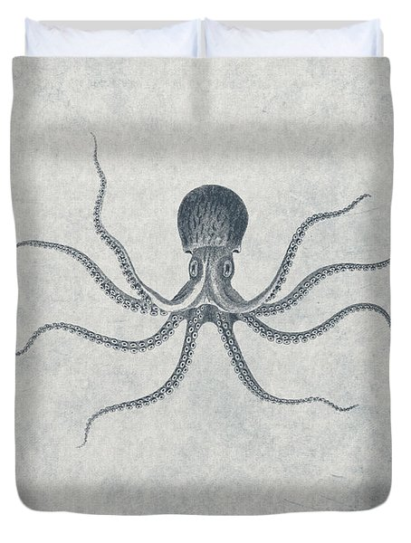 Giant Squid - Nautical Design Duvet Cover