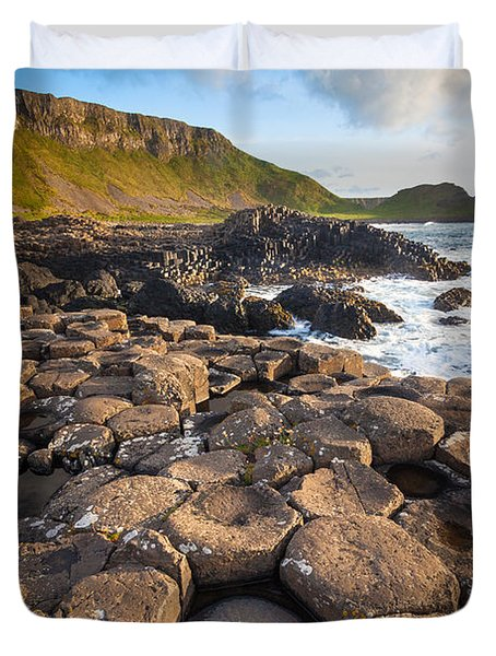 Giant's Causeway Circle Of Stones Duvet Cover