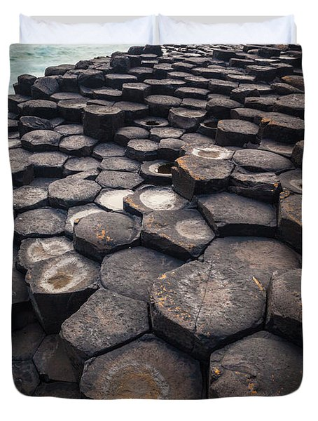 Giant's Causeway Pillars Duvet Cover by Inge Johnsson