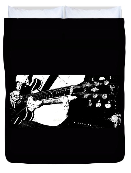 Gibson Guitar Graphic Duvet Cover by Chris Berry