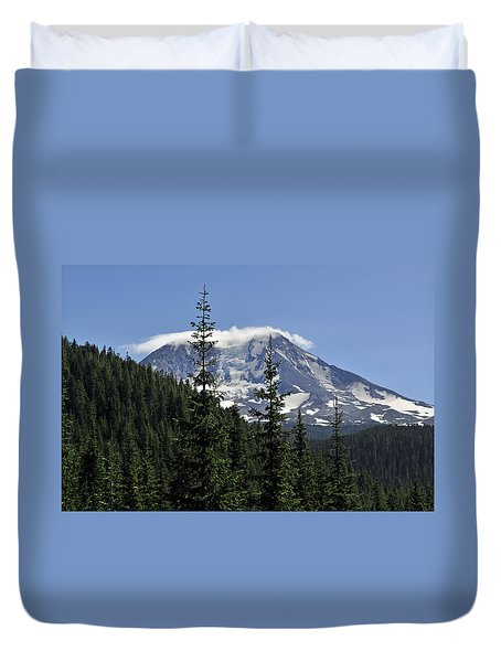 Gifford Pinchot National Forest And Mt. Adams Duvet Cover by Tikvah's Hope