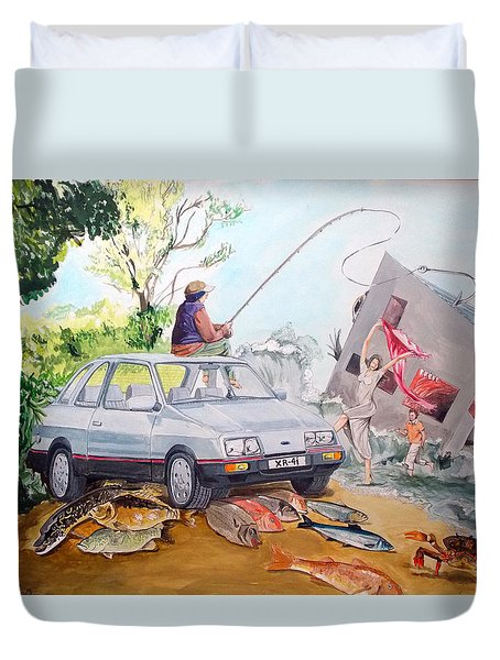 Gift Listen With Music Of The Description Box Duvet Cover