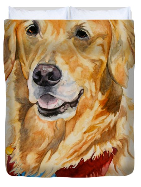 Gift Of Gold Duvet Cover by Susan Herber