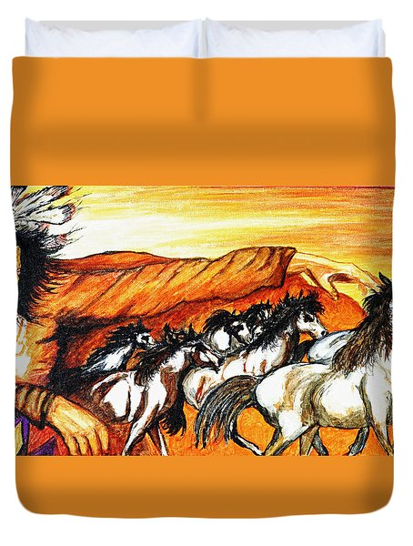 Gift Of The Pinto Duvet Cover