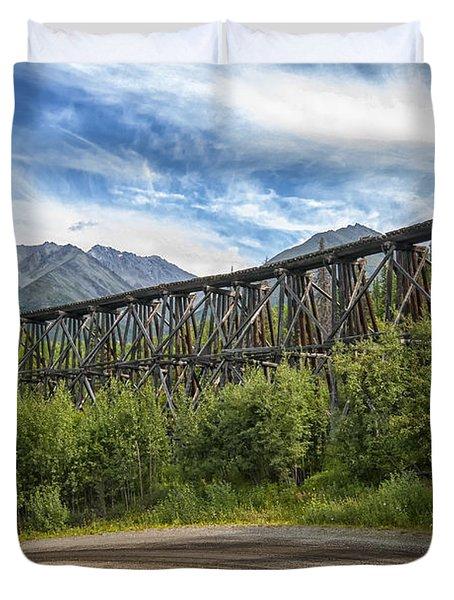 Gilahina Railroad Trestle Duvet Cover
