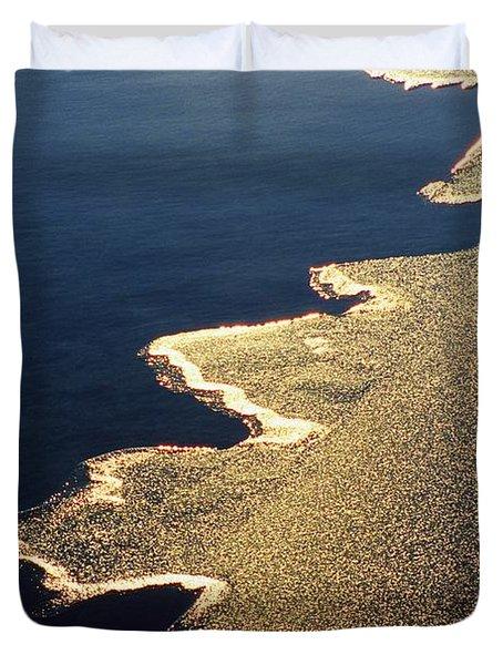 Gilded Edge - Lake Geneva Wisconsin Duvet Cover