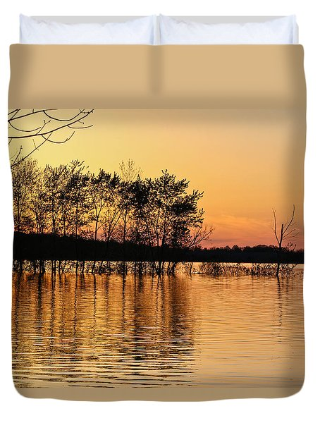 Gilded Sunset Duvet Cover