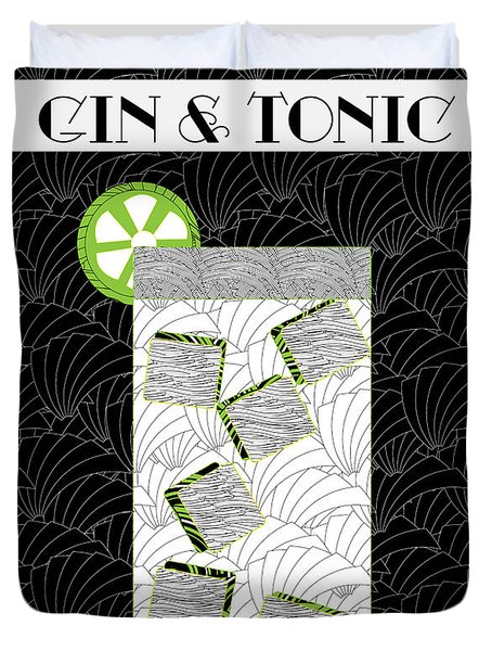 Gin And Tonic Cocktail Art Deco Swing   Duvet Cover