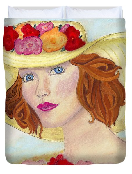 Duvet Cover featuring the painting Ginger by Arlene Crafton