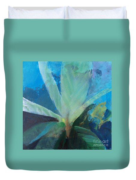 Duvet Cover featuring the painting Ginger Tea by Robin Maria Pedrero