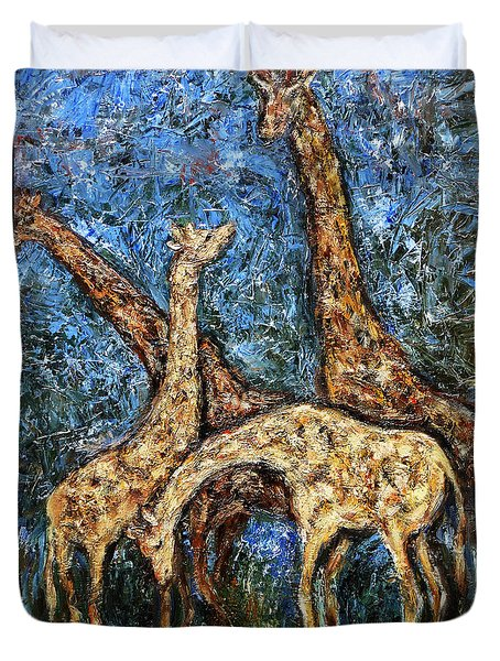 Giraffe Family Duvet Cover