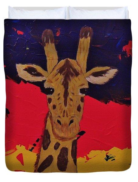 Giraffe In Prime 2 Duvet Cover