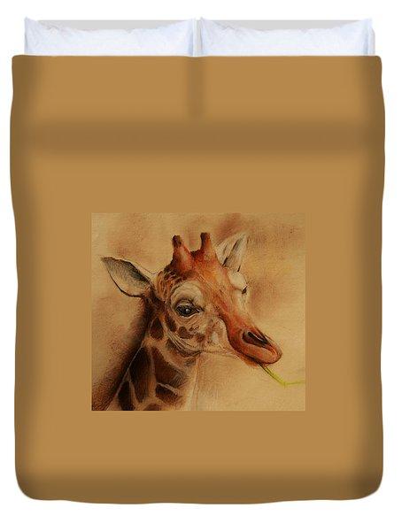 Giraffe Duvet Cover by Jean Cormier