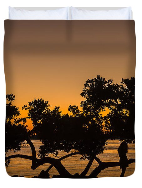 Girl And Tree Duvet Cover