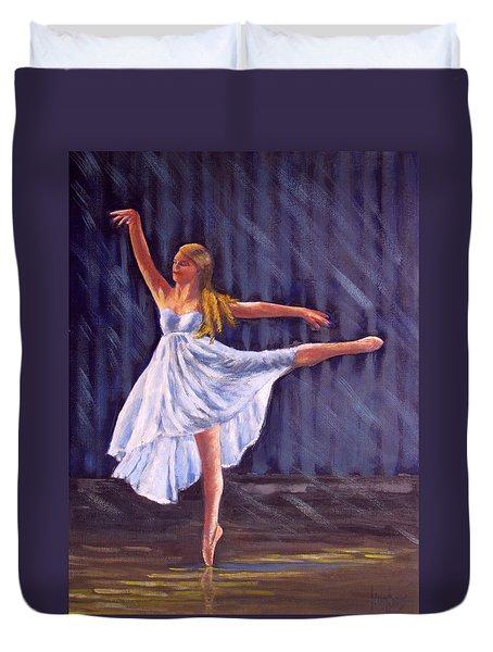Girl Ballet Dancing Duvet Cover