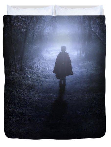 Girl In The Woods Duvet Cover by Joana Kruse