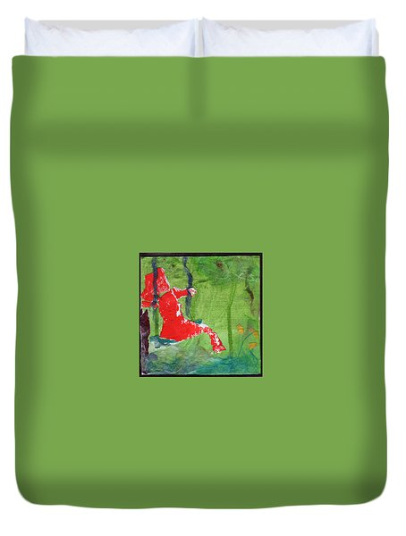 Girl On A Swing Duvet Cover