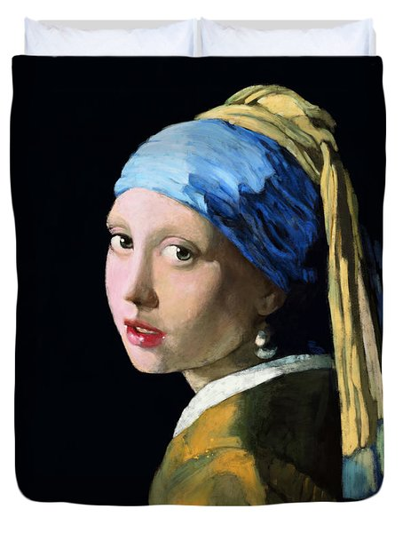 Girl With A Pearl Earring Duvet Cover