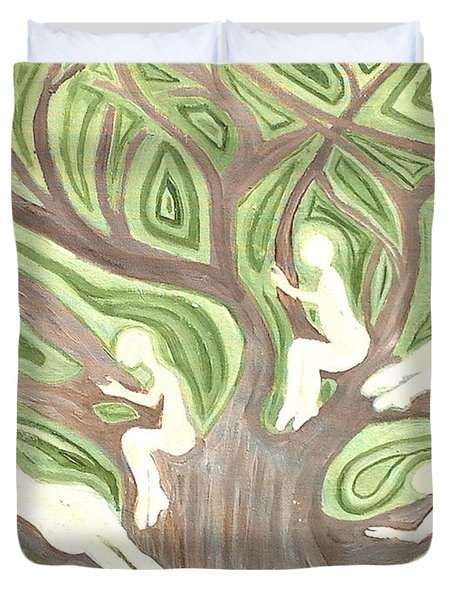 Girls In A Tree Duvet Cover
