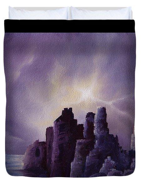 Girnigoe Castle Duvet Cover by James Christopher Hill
