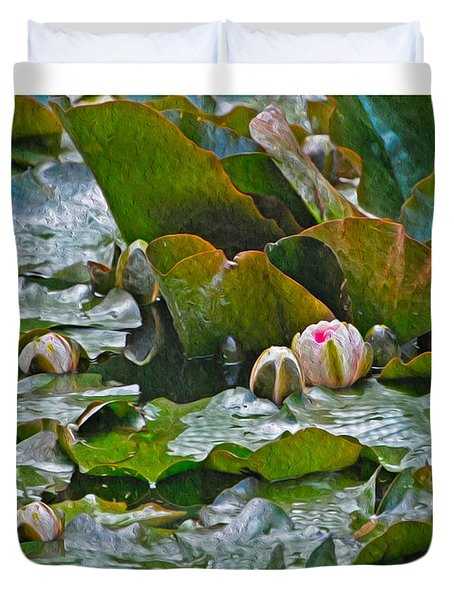 Giverny Early Lilies Duvet Cover