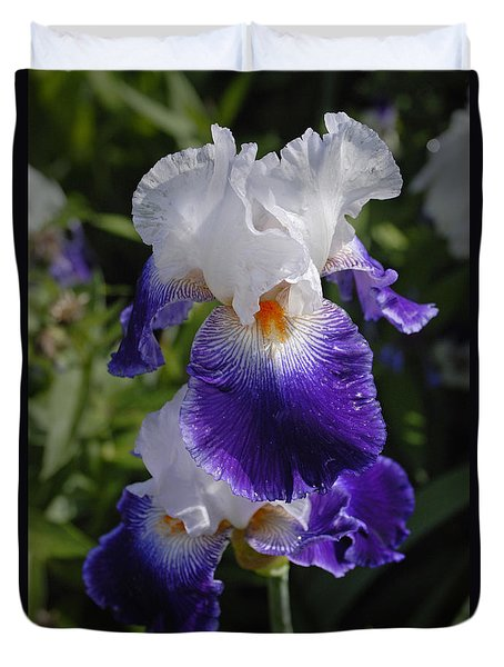 Giverny Iris Duvet Cover