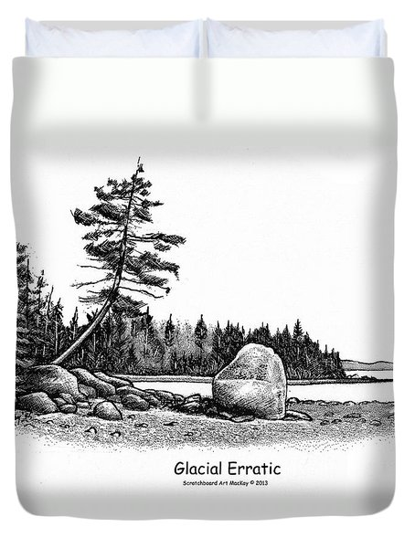 Glacial Erratic Duvet Cover