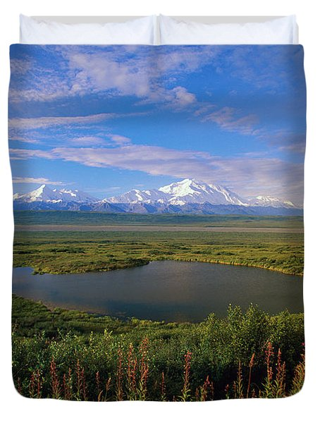 Glacial Kettle Pond And  Denali Duvet Cover