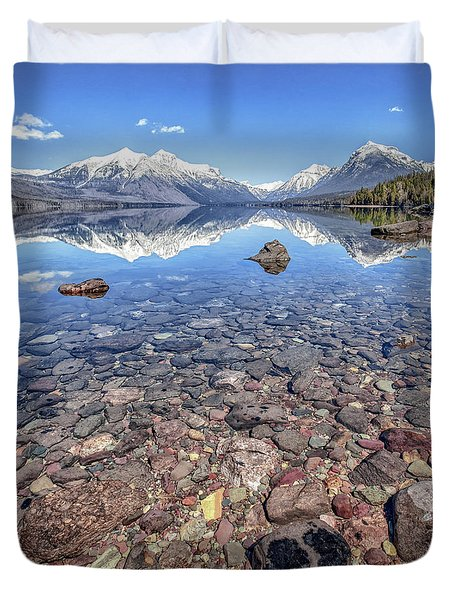Glacial Lake Mcdonald Duvet Cover