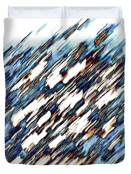 Glacial Melt Abstract Duvet Cover by Will Borden