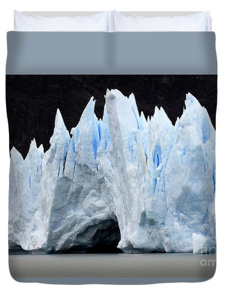 Glaciar Grey Patagonia Chile 3 Duvet Cover by Bob Christopher