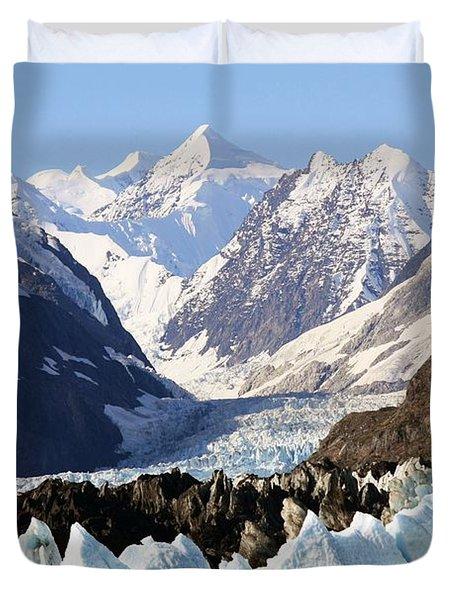 Duvet Cover featuring the photograph Glacier Bay Alaska by Sonya Lang