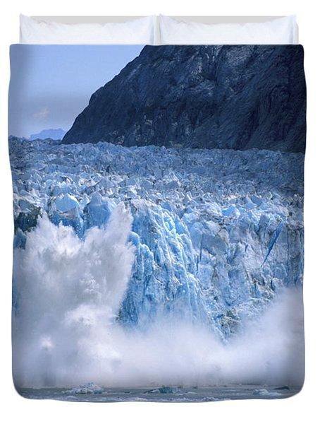 Glacier Calving Duvet Cover