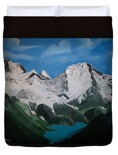 Glacier Lake Duvet Cover by Sharon Duguay