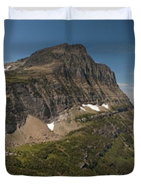 Glacier National Park Panorama Duvet Cover by Sebastian Musial