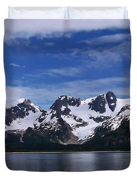 Glacier View Duvet Cover by Aimee L Maher Photography and Art Visit ALMGallerydotcom