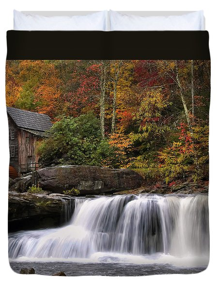 Glade Creek Grist Mill - Photo Duvet Cover