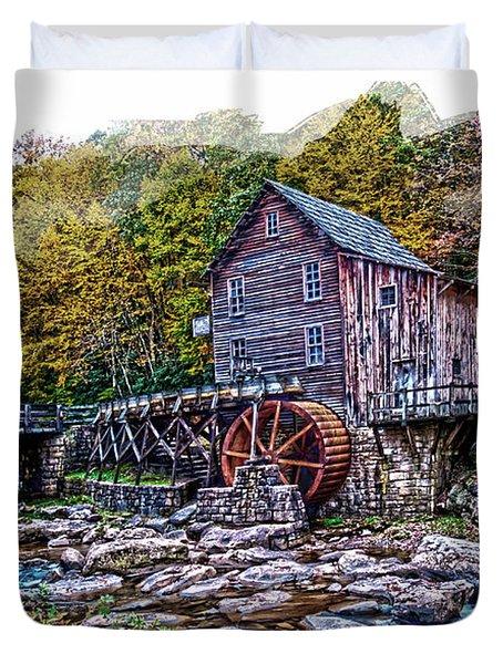 Glade Creek Grist Mill Duvet Cover by Randall Branham