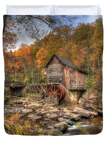 Glade Creek Gristmill Duvet Cover