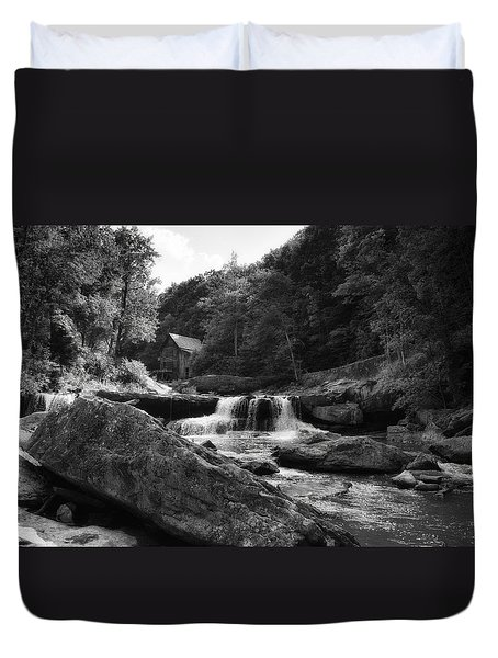 Glade Creek Waterfall Duvet Cover