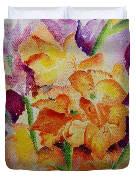 Gladioli Duvet Cover