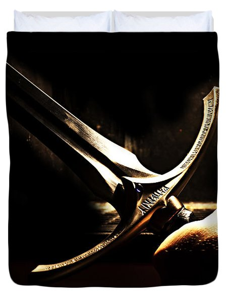 Glamdring - Foe Hammer Duvet Cover by Christopher Gaston