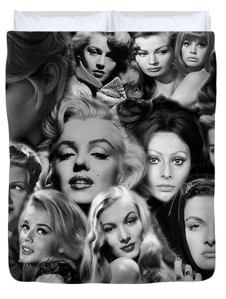 Glamour Girls 2 Duvet Cover by Andrew Fare