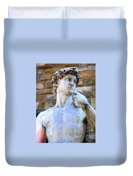 Glance At David Duvet Cover